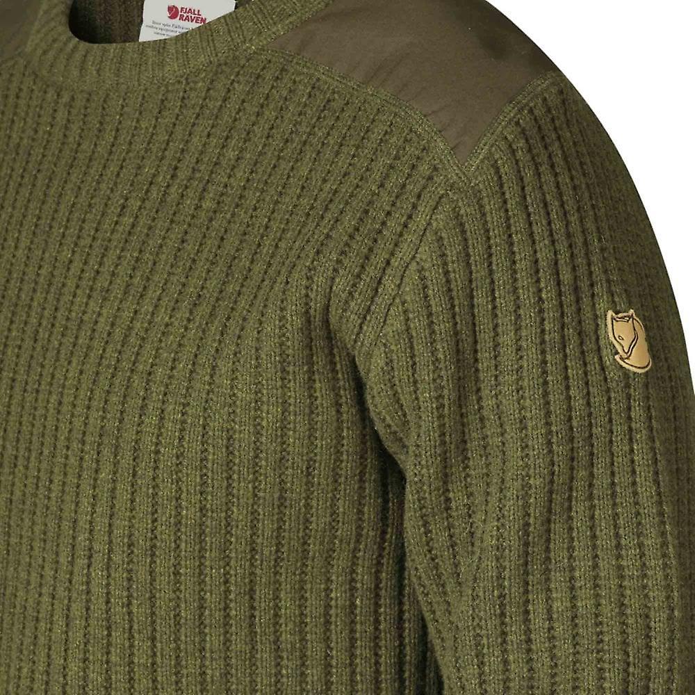 Fjallraven Singi Knit Sweater - Dark Olive