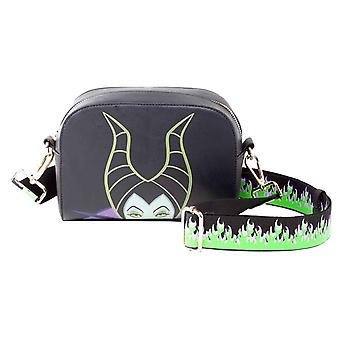 Maleficent Handbag Flames Logo new Official Disney Black