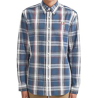 Fred Perry autentisk midnat twill check shirt M7567