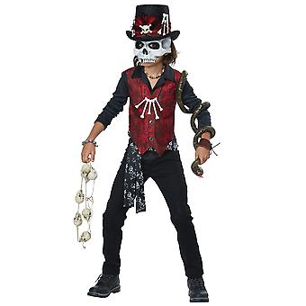 Voodoo Hex Witch Doctor Magician Warlock Fortune Teller Child Boys Costume