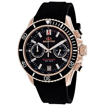 Seapro Men-apos;s Thrash Black Dial Watch - SP0333