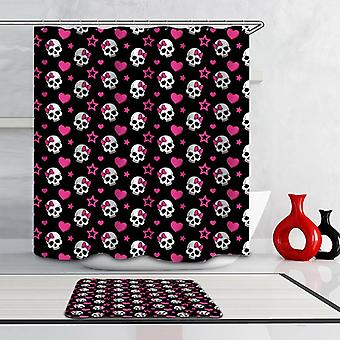Skulls, Hearts And Stars Shower Curtain