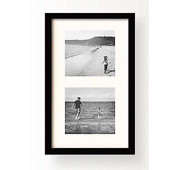 Multi Aperture 2 Photo Picture Frame Instagram Oxford Black Modern Collage 4x4