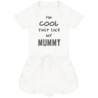 I-apos;m Cool Just Like My Mummy Baby Playsuit