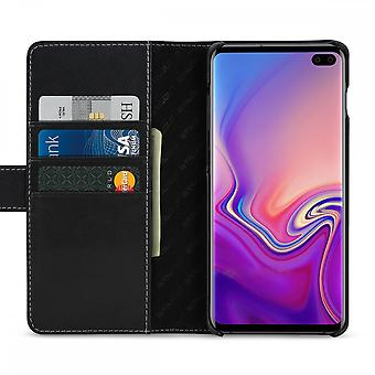 Case For Samsung Galaxy S10 Plus Black Nappa Card Holder In True Leather