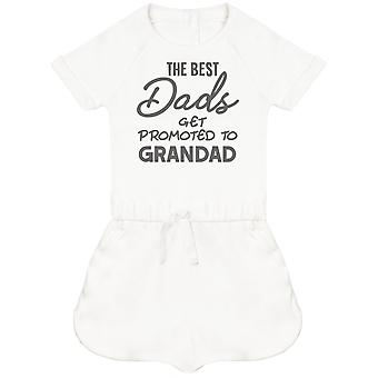 The Best Dads Get Promoted To Grandad Baby Playsuit