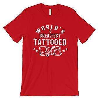 Größte tätowierte Papa Herren rot Glück nachdenklich Shirt für Väter