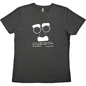 Groucho Marx Black 100% återvunnen T-shirt