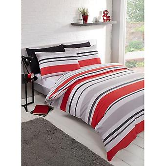 Linens and Lace Horizontal Stripe Duvet Cover Set Home Sets Accessories