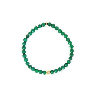 Les austauschbare Armband A59794 - Perle Serti Fleur Bleu grau Femme