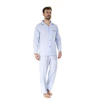Haigman Mens 100% Cotton Long Pyjama Lounge Wear - Stripe - XX-Large