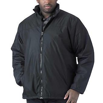 Duke D555 Mens Rayford Big & Tall Casual Zipped Light Padded Jacket Coat - Black