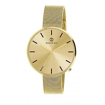 Watch James And his JAS10043 102 - steel gold man