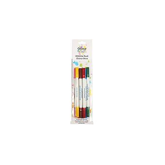 Colour splash Splash eetbare voedsel kleur pennen (pak van 8)