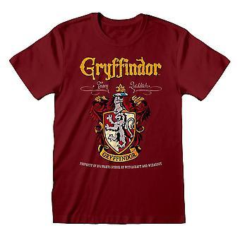 पुरुष और एपीओ; एस हैरी पॉटर ग्रिफिंडर क्रेस्ट रेड टी-शर्ट