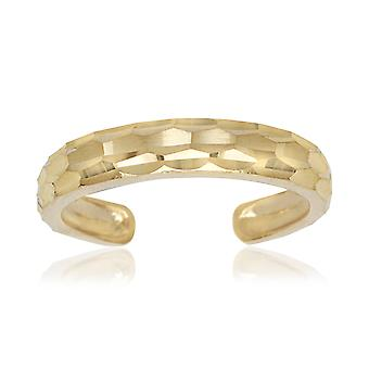 14k Giallo Oro Regolabile Elegante Sparkle Taglio Corpo Gioielli Toe Ring Gioielli Per le Donne