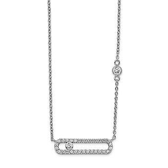 925 plata esterlina Rhodium plateado CZ Circo cúbico Zirconia simulado collar de diamantes de 18 pulgadas regalos de joyería para las mujeres