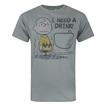 Junk Food Peanuts J'ai besoin d'un verre hommes-apos;s T-shirt