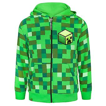 Minecraft Children's/Boy's Official Creeper Character Zip Up Hoodie