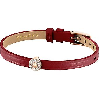 Zeades Sbc01077 bracelet - Bracelet Rose Gold Leather Crystal woman
