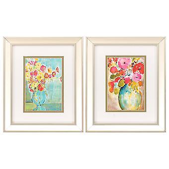 """10"""" X 12"""" Champagne Gold Color Frame  Pastel Vase (Set of 2)"""