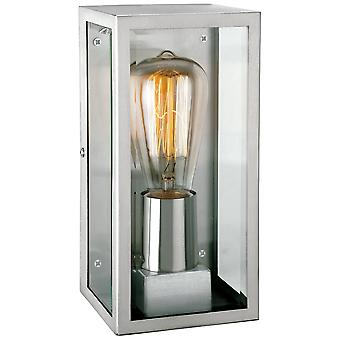 Firstlight Trophy Antique Stainless Steel Glass Rectangle Wall Lantern