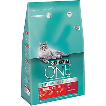 Purina One Sterilized Beef (Cats , Cat Food , Dry Food)
