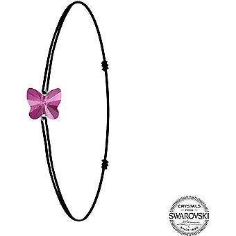 Pulsera de mariposa púrpura encanto - pulsera de mujer