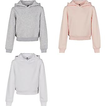 Build Your Brand Girls Cropped Hoodie