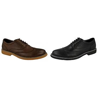 Thomas Blunt Mens Punched Toecap Formal Lace Up Brogue Shoes