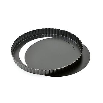 Quiche Pan Flan Tin 28 Cm 11 polegadas Non Stick Loose Base Quiche Tin/ Tart Pan Para Bolos Removível Base