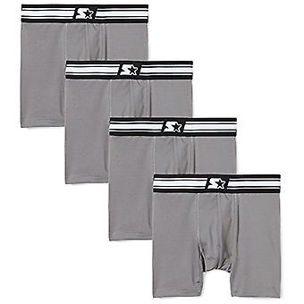 Starter Boys' Boxer Briefs 4-Pack,  Exclusive, Iron Grey, XS (4/5)