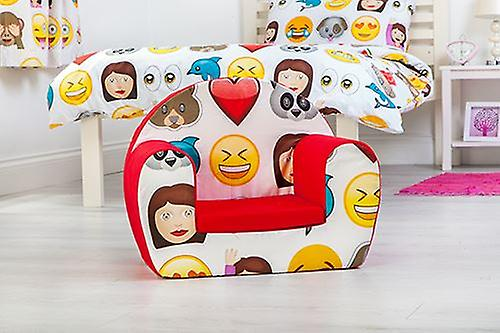 Ready Steady Bed Emoji Emoticons Design Children-apos;s Toddlers Furniture Small Foam Chair Armchair Seat