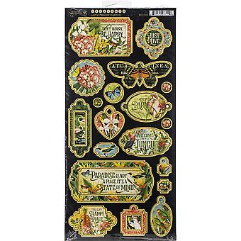 """Lost In Paradise Chipboard Die - Cuts 6""""X12"""" Sheet - Decorative & Journaling"""