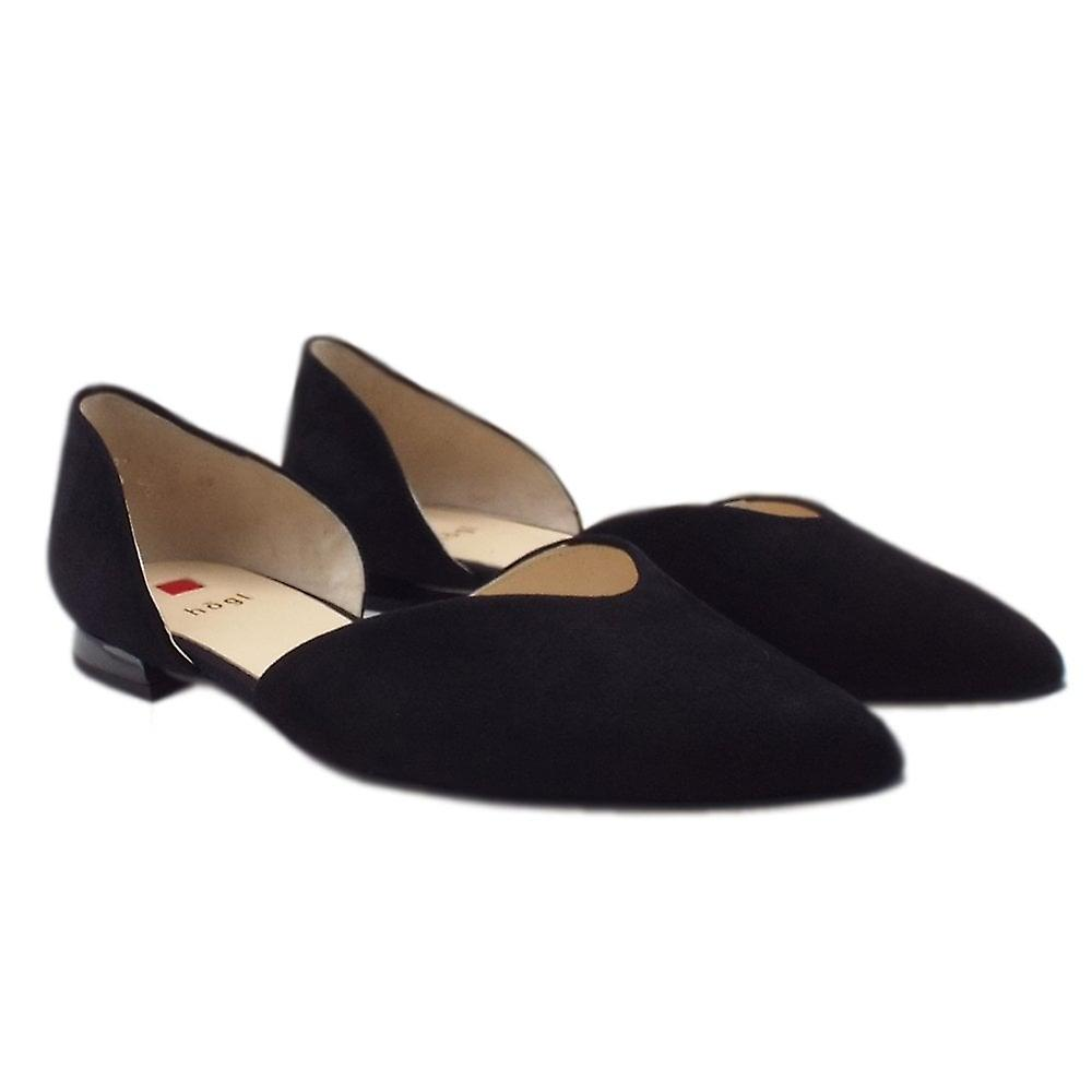 Chaussures De Cour En Suède 7-10 0012 Tenderly Chic Pointed Toe Suede Court Shoes In Black