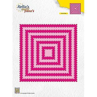 Nellie's Choice Multi Frame Die - Square waves MFD129 130x130mm