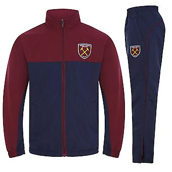 West Ham United FC Official Football Gift Boys Kids Jacket & Pants Tracksuit Set