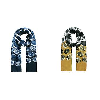 Jewelcity Womens/Ladies Abstract Paintery Spot Scarf