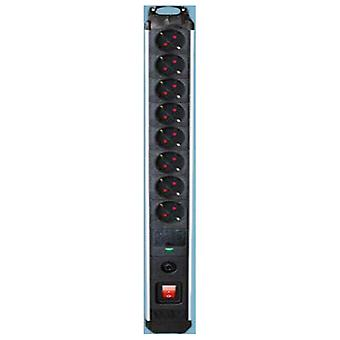 Power Socket 8 Sockets with Switch Silver Electronics 3680W Black