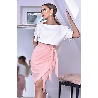 Sabrina Contrast Batwing Dress - Pink