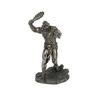 Greek Mythology Cyclops One Eyed Giant Wielding Spiked Club Statue