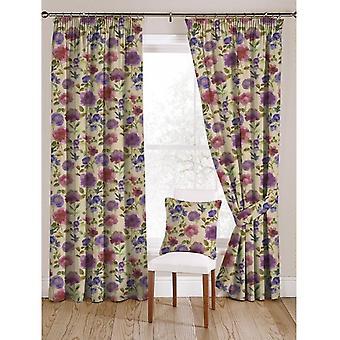McAlister textilier Renoir blommig violett lila sammet gardiner