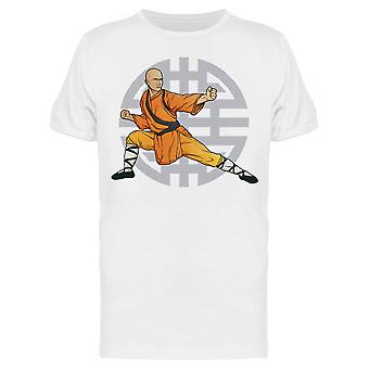 Monk Doing Kung Fu Tee Men's -Image by Shutterstock