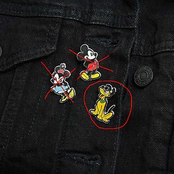 Mickey Mouse Emalj Pin Button Badge - Pluto
