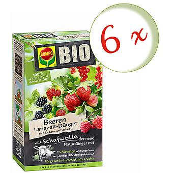 Sparset: 6 x COMPO ORGANIC berries long-term fertilizer with sheep wool, 750 g