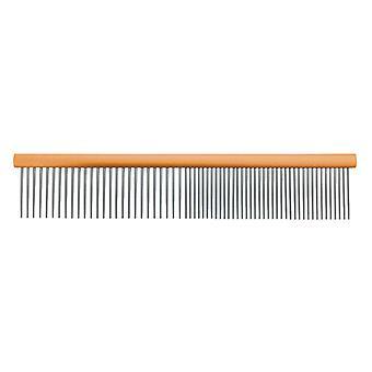 Groom Professional Spectrum Aluminium Comb 50/50 Orange 20cm