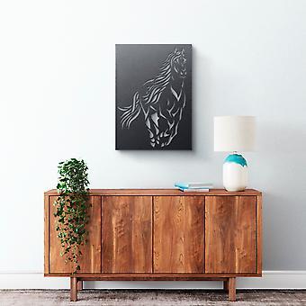Arte da parede do metal - cavalo galopante