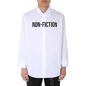 Off-white Omga127e20fab0020110 Männer's weiße Scotton Shirt