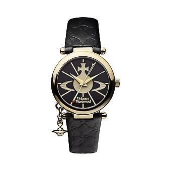 Vivienne Westwood Watches Vivienne Westwood Vv006bkgd Orb Ii Gold & Black Leather Ladies Watch