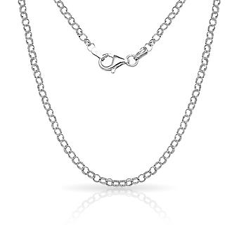 925 Sterling Silver 10 Inch X 3.0 mm Rolo Chain Anklet Italian Jewelry Gifts for Women
